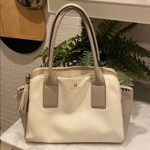 Kate Spade Satchel Bag! Two-Tone (White and Gray)